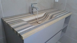 Vasque massive en Lamellé Roches®